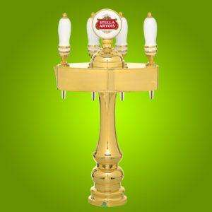 Draught Beer Tower 'Anversa' - 4 Way - Chrome