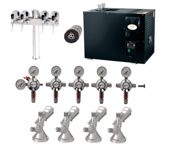 Classic Bar System - 4 Tap - T Tower