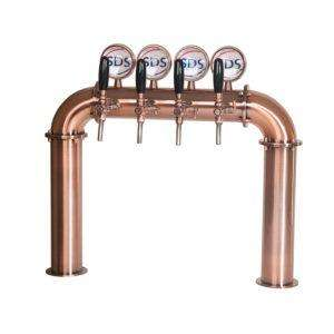 Draught Beer Tower - 4 Tap U-Bar - Bronze