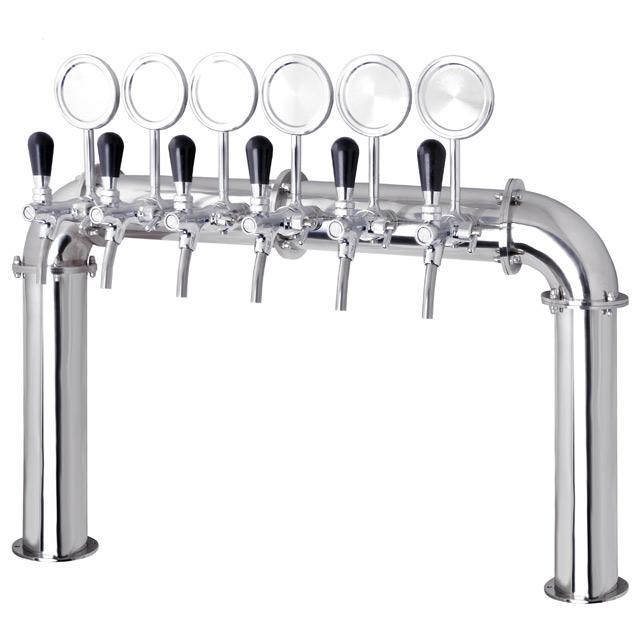 Draught Beer Tower 4 To 12 Tap U Bars Stainless Steel