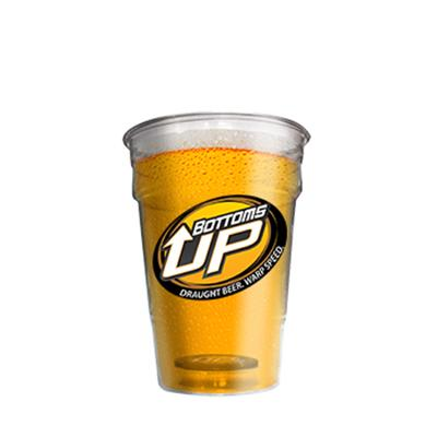 Bottoms Up Plastic Disposable 473ml Cup