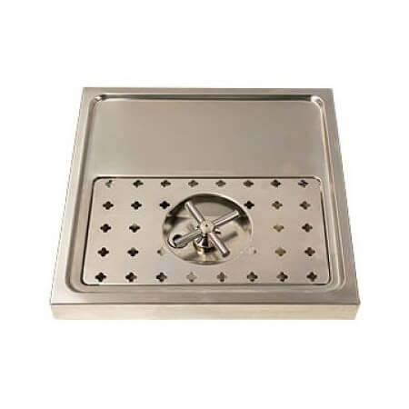 Drip Tray Base 40cm x 40cm - Stainless Steel - Rinser
