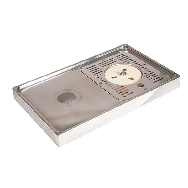 Drip Tray 40cm x 25cm - Stainless Steel - Rinser (no holes)