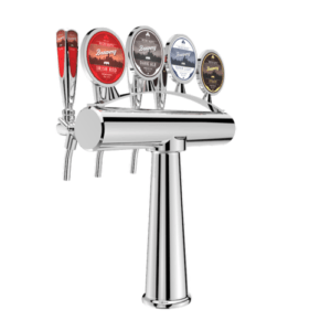 Draught Beer Tower Archetto - 4 Way - Chrome