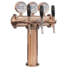 Draught Beer Tower - 3 Tap T-Bar - Bronze